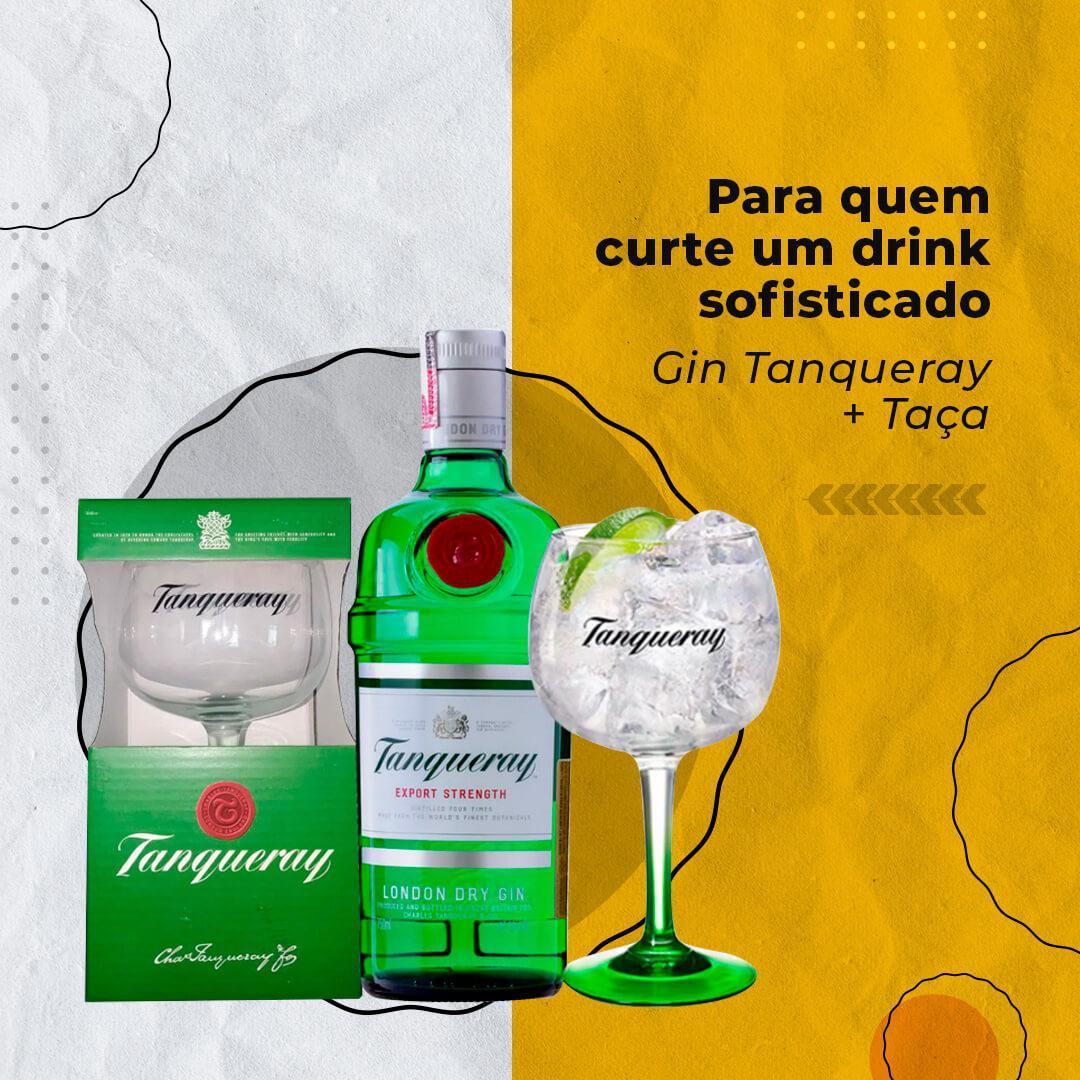 Gin Tanqueray + Taça personalizada