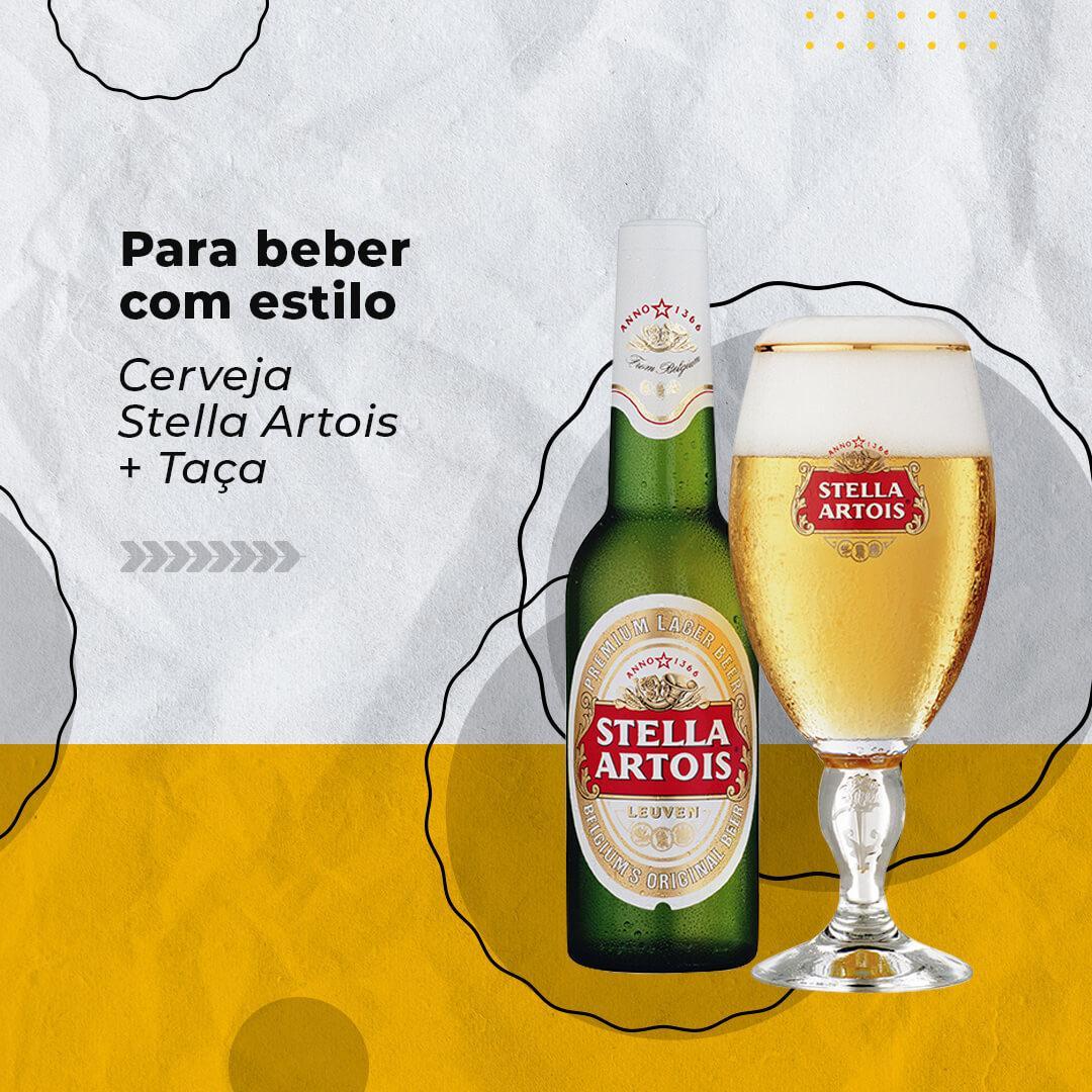 Cerveja Stella Artois + Taça personalizada